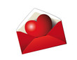 Kuvert mit Herz