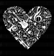 Love for music concept illustration