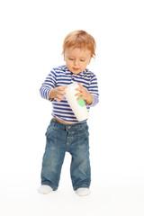 Kid with coffee mug