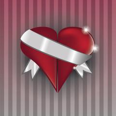 cuore con fascia