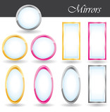 Mirrors collection. poster