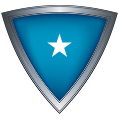 Steel shield with flag Galmudug