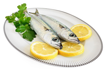 due sgombri con limone - two mackerel with lemon