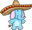 Sombrero Blue Elephant vector