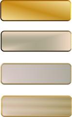 executive 3d metal name plates
