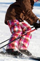 Kind beim Schifahren -  Kinderschikurs
