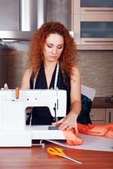 Fashion designer at work