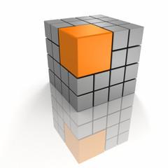 Different orange big unique leader cube