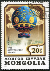 MONGOLIA - CIRCA 1982: A stamp printed in Mongolia shows French