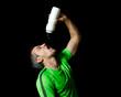 Athlet beim trinken