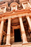 Al Khazneh vertical view - the treasury of Petra ancient city