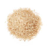 Closeup of brown sugar isolated on white background