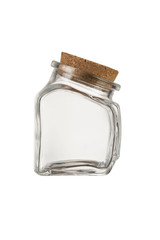 empty little jar with cork
