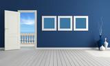 Blue summer room