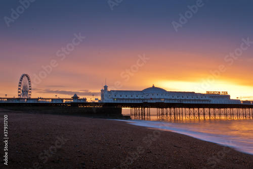 Brighton at sunset