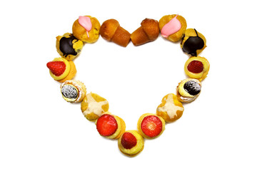 Valentine's Day heart made of pastry