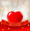 Valentine`s day background with red heart.