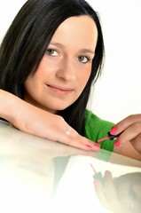les ongles de peinture femme