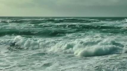 Surf breaking on the Washington Coast