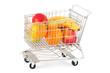 Obst im Einkaufswagen