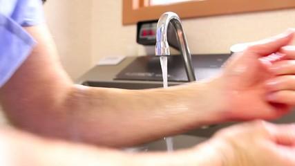 surgeon washing hands II