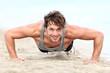 Fitness man exercising pushups