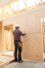 A carpenter at work.