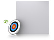 three green arrows one target marketing background