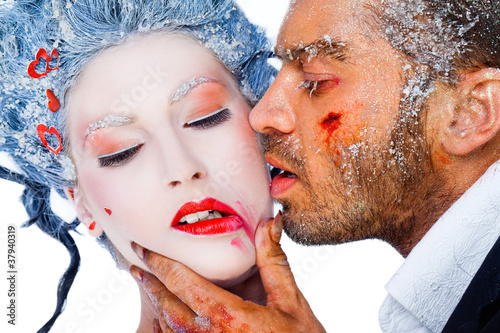 frozen kiss red lipstick