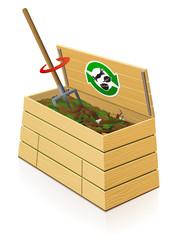 Composteur en bois : aération du mélange