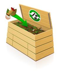 Composteur en bois : ajout de déchets verts