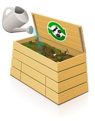 Composteur en bois :  apport en eau
