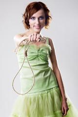 Beautiful woman with hangman's noose