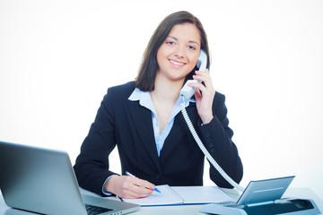 auszubildende am telefon