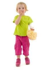 Child eat snack