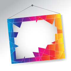 Abstract frame. Vector illustration
