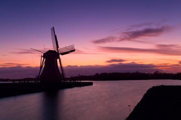 windmill silhouette in Groningen