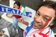 Man supporting the Italian national football team