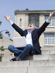 successful senior businessman online