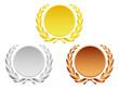 Lorbeerkränze Gold, Silber , Bronze