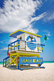lifeguard house in Miami Beach, Florida , USA - Fine Art prints