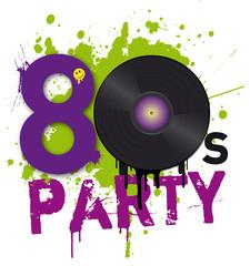 80er Party Logo