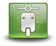 """Green 3D Effect Icon """"Scooter"""""""