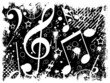 Music background (black and white)