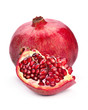 Pomegranate fruit open