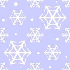 Seamless repeating pale blue snowflake pattern swatch