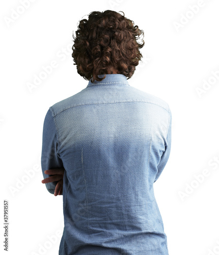 back side view of a man