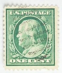 Benjamin Franklin Postage Stamp - circa 1910