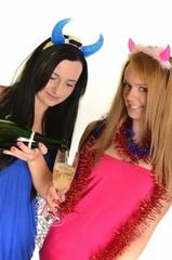 champagne et femmes