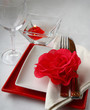 Festive serving of table